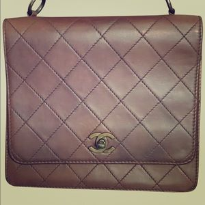 Chanel vintage brown ltd Ed flap handle bag